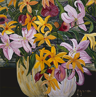 Pot Of Lilies